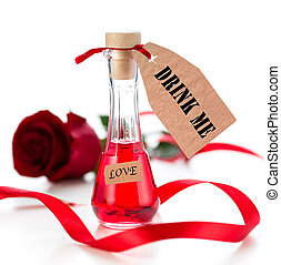 Elixir of Love drink for Valentines day holiday