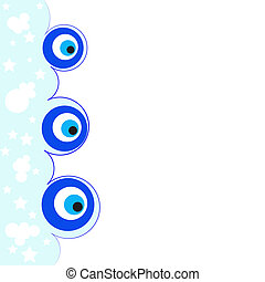 Evil eye Amulet A vector illustration