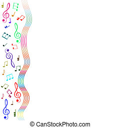 Treble clef for your design. A vector illustration - Treble...