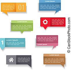 Speech Bubbles - Colored speech bubbles set, vector eps10...