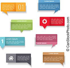 Speech Bubbles - Colored speech bubbles set, vector eps10...