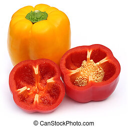 Capsicum over white background