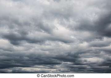 Oscuridad, nubes, Antes, thunder-storm