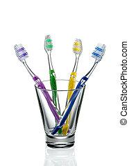 Cepillos de dientes, vidrio