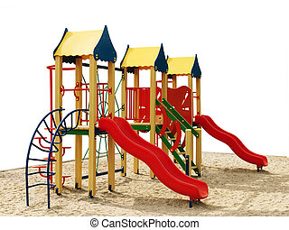 Playground without children. Isolated