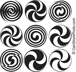 Optical Art Spirals