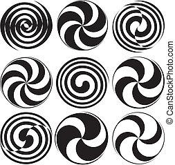 Optical Art Spirals