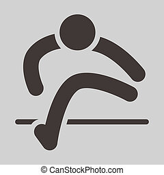 Running hurdles icon - Summer sports icons - running hurdles...