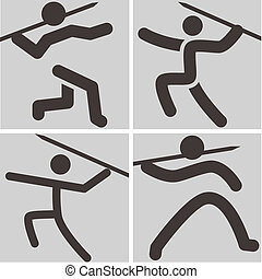 Javelin throw icons