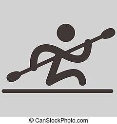 Rowing and Canoeing icon - Summer sports icons - Rowing and...