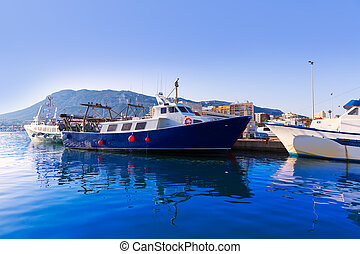 Denia, puerto, fisherboats, Montgo, Montaña, Alicante