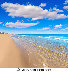 Gandia beach in Valencia Mediterranean Spain - Gandia playa...