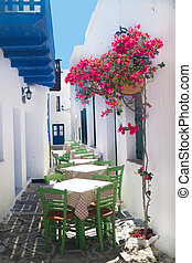 Traditional greek tavern on Sifnos island, Greece