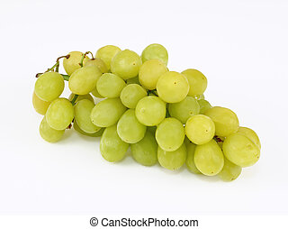 Stock Photo: fresh grapes - Grapes on white background