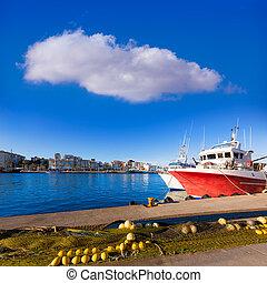 Gandia port puerto Valencia in Mediterranean Spain - Gandia...