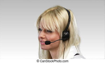 Attrative Woman on Phone - Attractive Caucasian Business...