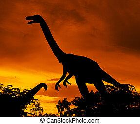Siluetas, dinosaurios