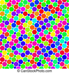 festive dots pattern - seamless texture of very colorful and...