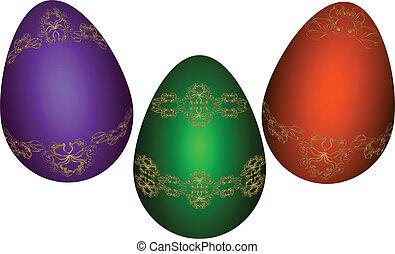 Easter eggs. Vector illustration. Eps 10.