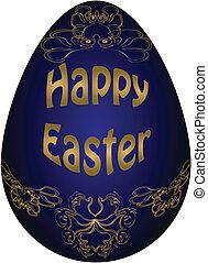 Easter egg. Vector illustration. Eps 10.