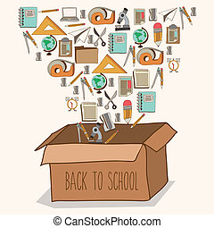Back to school design over white background, vector...