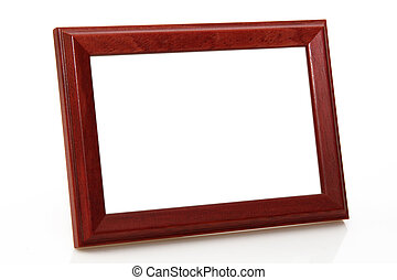 Picture frame - Wooden picture frame on bright background