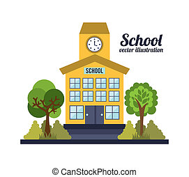 Buildings design over white background, vector illustration