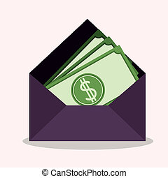Mail design over gray background, vector illustration