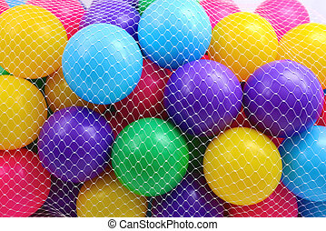 Coloured Balls in Net