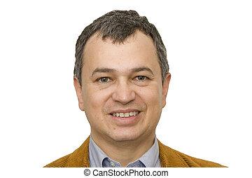 Hispanic Man Smiling Closeup