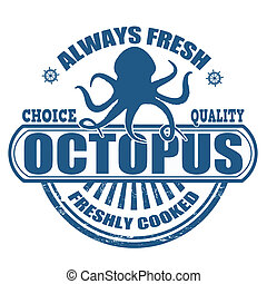 Octopus stamp - Grunge rubber stamp with the text Octopus...