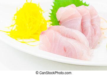 White perch - Raw fresh White perch sasimi , sushi