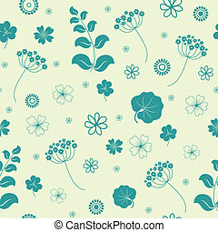 Garden flowers seamless background - Garden flowers and...