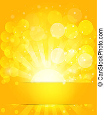 Sunny skies and bokeh. Vector background EPS10.
