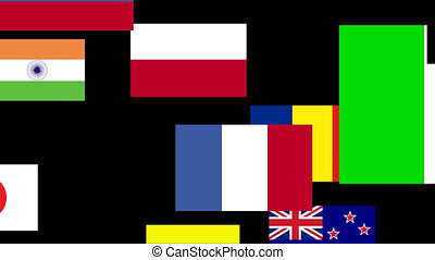 Flags of the world animated 3 - 3d Animation of flags of the...