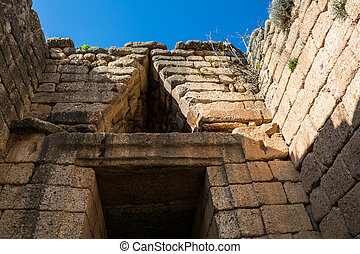 hacienda, atreus, mycenae, grecia