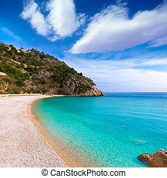 Javea La Granadella beach in Xabia Alicante Spain - Javea La...