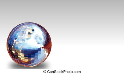 HD animated Disco Ball - High Defintion 3d animation of a...