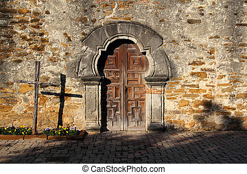 Mission Espada Entrance, San Antonio Missions National...