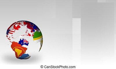 Globe of World Maps - Rotating Globe of Nations of the world