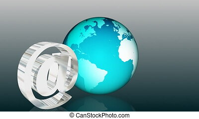 Email Global Communication - HD animation of Email Global...