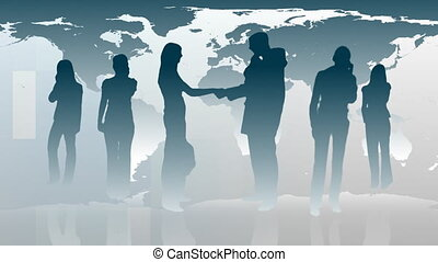 Sihouetted of Business People -1