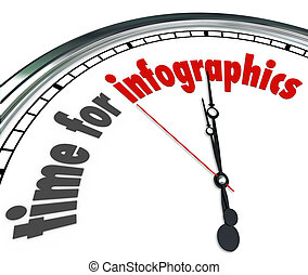 Time for Infographics Clock Presenting Data Information