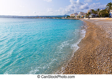 Javea Xabia Playa La Grava beach in Alicante Spain - Javea...