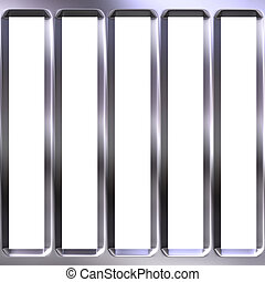 3D Metal Cage - 3d metal cage isolated in white