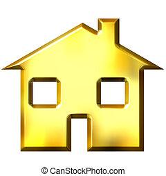 3D Golden House