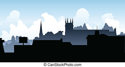 Pembroke, Ontario - Skyline silhouette of the town of...