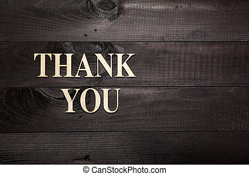 Thank you - Wooden letters forming words THANK YOU written...