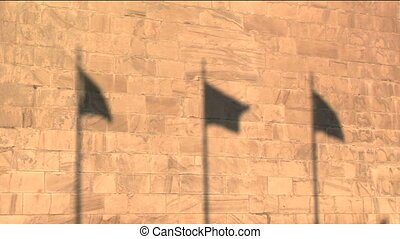 Flag shadows - Shadows of flags against the Washington...