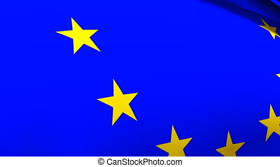 European Union Flag - 3d Render of the European Union Flag